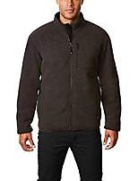 cheap -men's fleece sherpa jacket (coal, medium)