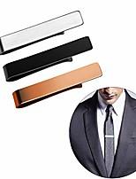cheap -men's fashion simple necktie tie bar clasp gentleman formal clip gift (bk+sr+cp)