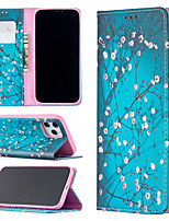 cheap -Case For Apple iPhone 12 / iPhone 11 / iPhone 12 Pro Max Shockproof Full Body Cases Scenery PU Leather