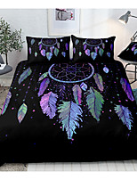 cheap -Dreamcatcher Print 3-Piece Duvet Cover Set Hotel Bedding Sets Comforter Cover with Soft Lightweight Microfiber, Include 1 Duvet Cover, 2 Pillowcases for Double/Queen/King(1 Pillowcase for Twin/Single)
