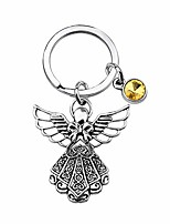 cheap -guardian angel keychain with birthstone memorial key chain personalised gift (nov.)