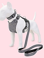 cheap -Dog Cat Pets Collar Leash Cute and Cuddly Decoration Nylon Black / White