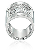 cheap -1/4 carat diamond, channel  platinum princess-cut diamond bridal wedding band ring (h-i, si2-i1) by
