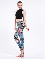 cheap -Women's Casual Yoga Comfort Daily Gym Leggings Pants Multi Color Ankle-Length Print Blue