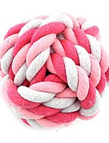 cheap -small dog cat pet rope ball chew toy teething durable play safe toy multi-colored s