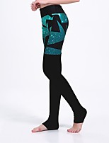 cheap -Women's Basic Casual Comfort Daily Gym Leggings Pants Multi Color Star Ankle-Length Patchwork Print Black
