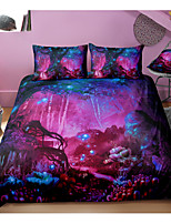 cheap -Luminous Tree Print 3-Piece Duvet Cover Set Hotel Bedding Sets Comforter Cover with Soft Lightweight Microfiber For Holiday Decoration(Include 1 Duvet Cover and 1or 2 Pillowcases)