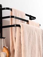 cheap -Towel Bar Retractable Cable / Creative / Multifunction Contemporary / Modern Aluminum 1pc - Bathroom / Hotel bath 3-towel bar Wall Mounted