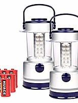 cheap -2 pack led camping lantern with 7 light level, waterproof tent light, portable lanterns great for camping, survival kits, hurricane, emergency light, outages, hiking, fishing (30 led)