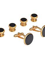 cheap -mens cufflinks and studs set tuxedo shirts groomsmen groom wedding gift cuff links business,gold black