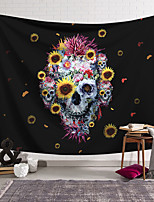cheap -Wall Tapestry Art Decor Blanket Curtain Hanging Home Bedroom Living Room Decoration Polyester Skull Pattern Tapestry