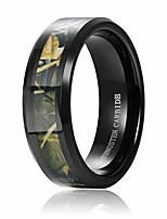 cheap -8mm mens black tungsten carbide ring wedding band classic camo camouflage comfort fit size 6-14