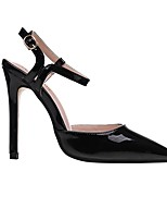 cheap -Women's Sandals Stiletto Heel Pointed Toe Casual Daily Walking Shoes PU Solid Colored Almond Black