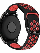 cheap -20mm silicone strap compatible with samsung galaxy watch 42mm/active/active 2/active2 40mm/44mm/vivoactive 3/vivomove hr/forerunner 245/645 music/huawei gt 2 42mm replacement band,black/red