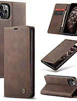 cheap -leather wallet case for iphone 11,premium vintage pu leather wallet cover card slot kickstand magnetic closure shockproof flip folio cover with card holder for iphone 11