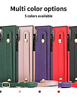 cheap -Case For Apple iPhone 12 / iPhone 11 / iPhone 12 Pro Max Shockproof Back Cover Solid Colored PU Leather
