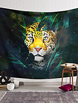 cheap -Wall Tapestry Art Deco Blanket Curtain Hanging Home Bedroom Living Room Dormitory Decoration Polyester Fiber Animal Painted Leopard Rainforest