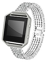 cheap -for fitbit blaze strap with frame, aisports fitbit blaze stainless steel rhinestone smart watch band replacement strap bracelet buckle wrist strap for fitbit blaze fitness accessories, silver