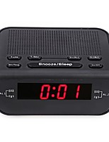 cheap -CR-246 Original Modern Design Alarm Clock FM Radio With Dual Alarm Buzzer Snooze Sleep Function Compact Digital Red LED Time Display