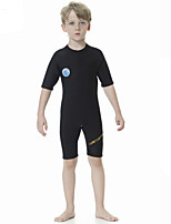cheap -Boys' Shorty Wetsuit 2.5mm SCR Neoprene Diving Suit Quick Dry Short Sleeve Back Zip Solid Colored Summer / Kids