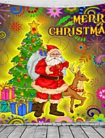 cheap -Christmas Santa Claus Holiday Party Wall Tapestry Art Decor Blanket Curtain Picnic Tablecloth Hanging Home Bedroom Living Room Dorm Decoration Christmas Tree Gift Fireplace