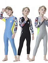 cheap -Boys' Full Wetsuit 2.5mm SCR Neoprene Diving Suit Quick Dry Long Sleeve Back Zip Patchwork Autumn / Fall Spring Summer / Kids