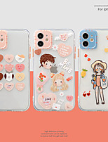 cheap -Case For Apple iPhone 12 / iPhone 11 / iPhone 12 Pro Max Shockproof Back Cover Heart / Cartoon TPU