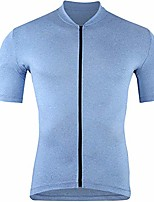 cheap -men's bike jersey cycling jersey short sleeve with 3 rear pockets,quick dry biking shirt hub20dx02 (light blue, x-large)