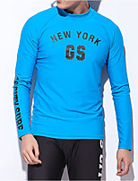 cheap -Men's Diving Rash Guard Swimwear Breathable Quick Dry Long Sleeve Swimming Diving Surfing Solid Colored Summer / Stretchy