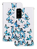 cheap -Case For Huawei HUAWEI P40 / HUAWEI P40 Pro / Huawei P30 Shockproof Full Body Cases Butterfly PU Leather / TPU