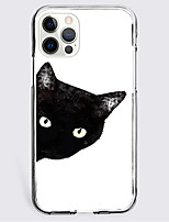 cheap -Black Cat Case For Apple iPhone 12 iPhone 11 iPhone 12 Pro Max Unique Design Protective Case Shockproof Back Cover TPU
