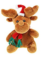 cheap -christmas doll toys home decor xmas santa reindeer snowman plush stuffed doll gift for girls boys (xmas deer)