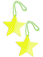 cheap -safety reflectors pendants - star - ultra bright and stylish reflective gear for school bag/backpack/bag - reflective fluorescent (yellow-2 everyone)