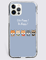 cheap -Dog Graphic Phone Case For iPhone 12 11 SE2020 Unique Design Protective Case Shockproof Clear Back Cover for iPhone 12 Pro Max XR XS Max iPhone 8 Plus 7
