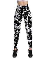 cheap -Women's Basic Casual Comfort Daily Gym Leggings Pants Graphic Ankle-Length Print Black