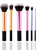 cheap -® professional rose-gold/gold/silver/blue/red-pink/black-gold/purple powder/foundation/eyeshadow/contour/pointed crease/eyeliner/blush makeup brush set (7pcs silver)
