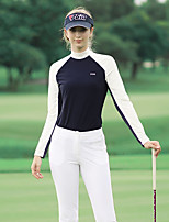 cheap -Women's Golf Polo Shirts Long Sleeve Breathable Quick Dry Soft Sports Outdoor Autumn / Fall Spring Winter Spandex Dark Navy / Stretchy / High Neck