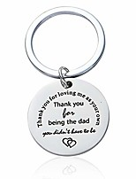 cheap -father in law gifts thank you for loving me as your own keychains jewelry presents for step dad from son daughter (thank you for loving me as your own)