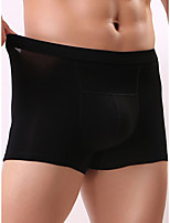 cheap -Men's 1 Piece Basic Boxers Underwear - Normal Low Waist White Black Red L XL XXL