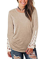 cheap -womens tops loose fit long sleeve fall clothes lace sweatshirts m