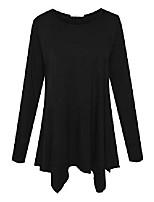 cheap -women plus size tops long sleeve tunic top flare swing t-shirt (black m)