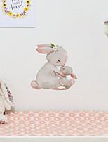 cheap -Cartoon Rabbit Pattern Children Imitation Decoration Self-adhesive Wall Sticker Pvc Waterproof Removable Sticker