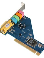 cheap -Yoc Hot 4 Channel 8738 Chip 3d Audio Stereo Pci Sound Card Win7 64 Bit