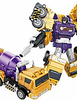 cheap -devastator creative combination robot transformer truck transform car toy for boys earth yellow