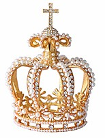 cheap -handmade big crown ornaments with rich enamel and sparkling rhinestones | wedding birthday party unique gift