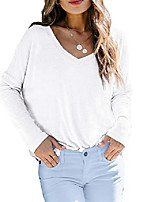 cheap -womens v neck shirts lightweight long sleeve trendy fall tops white xl