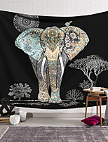 cheap -Wall Tapestry Art Decor Blanket Curtain Hanging Home Bedroom Living Room Decoration Polyester Fiber Animal Color Pattern Elephant Orchid Pavilion Design