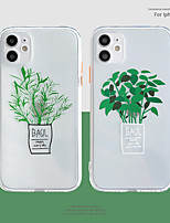 cheap -Case For Apple iPhone 12 / iPhone 11 / iPhone 12 Pro Max Shockproof Back Cover Cartoon / Tree TPU