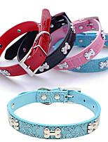 cheap -Dog Collar Adjustable Breathable Retractable Outdoor Walking Butterfly Shing Diamonds PU Leather Corgi Shiba Inu Pug Bichon Frise Schnauzer Poodle White Black Red Blue Pink 1pc