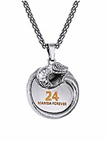 cheap -black mamba pendant necklace basketball star memorial souvenir necklace snake necklace (black)